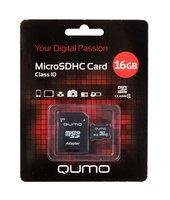 Карта памяти Qumo microsdhc 16gb class 10 + адаптер