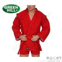 Куртка для самбо Green Hill fias approved (лицензия fias), Красная Green Hill