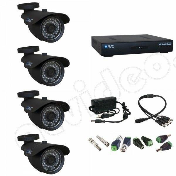 Комплект видеонаблюдения на 4 камеры AVC 4-2 HD 960p для улицы