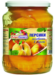 Персики Булгарконсерв половин. в сиропе с/б 680г