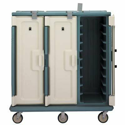 Тележка для доставки блюд на подносах, синевато-серая Cambro, MAG - 24826