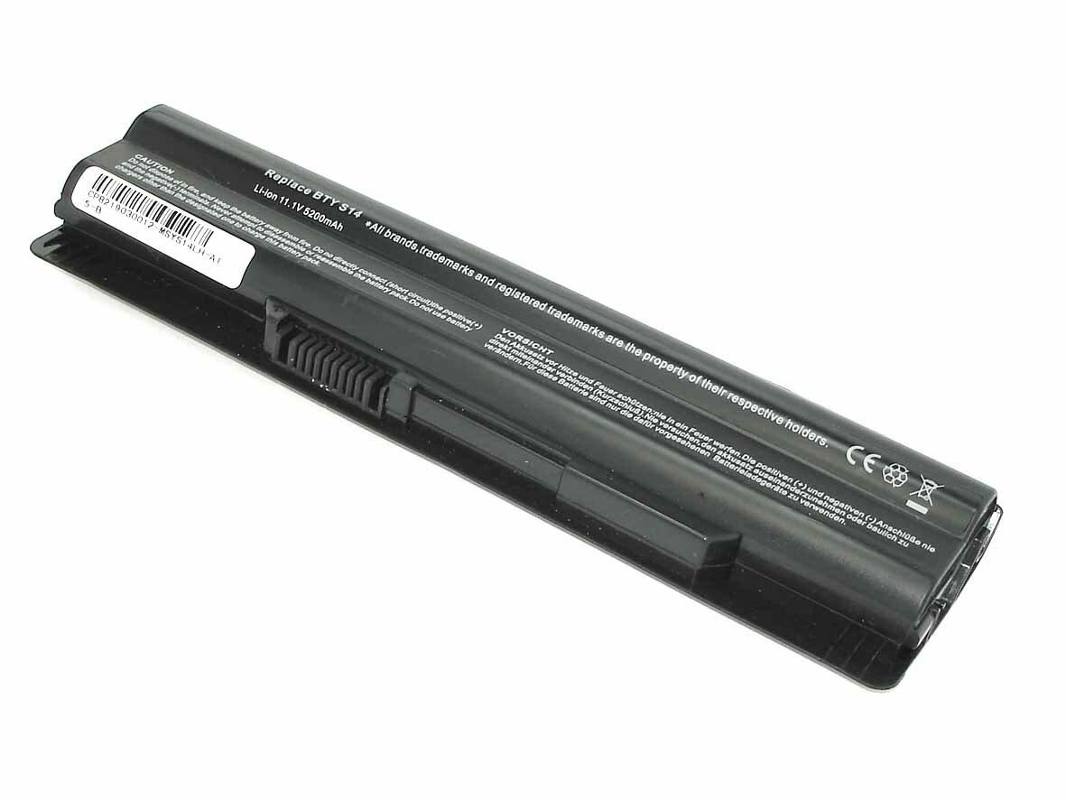 Аккумуляторная батарея BTY-S14 для ноутбука MSI CR650 FX400 FX600 FX610 FX700 CR650 GE620 11.1V 4400mah черная