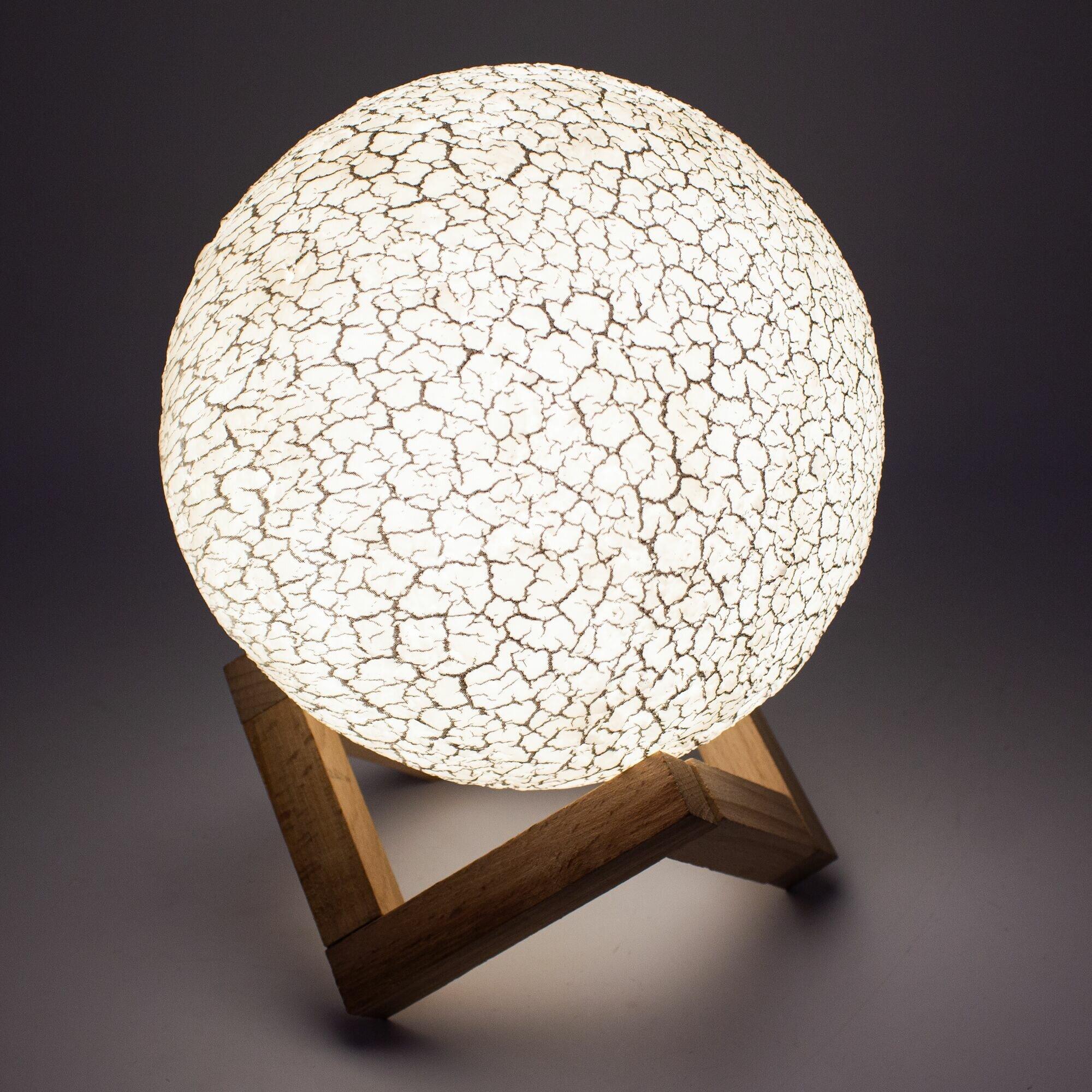 Лампа-ночник Sfero SF109 Астероид 3 цвета Сенсорная d15 см.