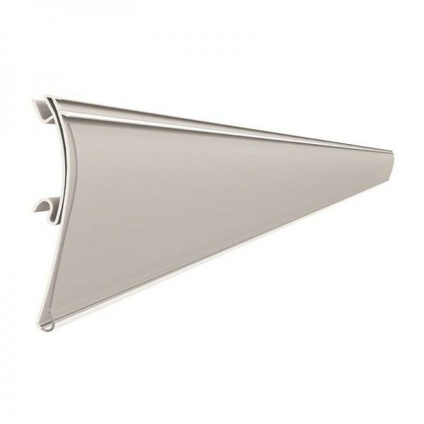 Ценникодержатель цвет белый для металлического стеллажа нордика длина 988 мм