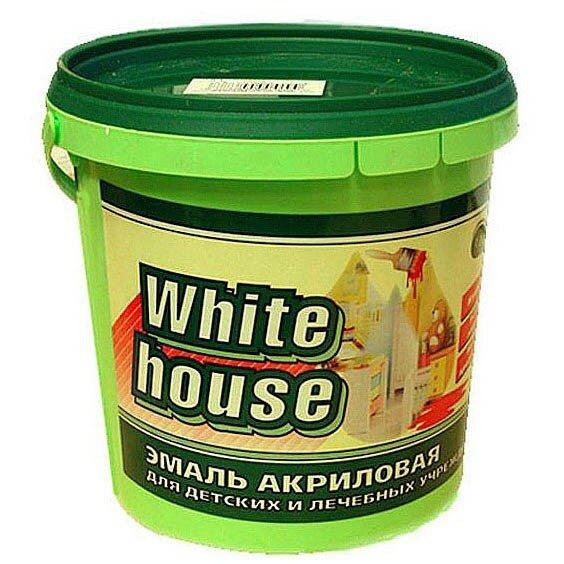 Эмаль акриловая White House для детских и лечебных учреждений белая матовая 1 кг