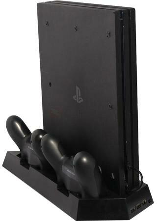Подставка для вертикальной установки консоли + зарядная станция + охлаждение для DOBE (TP4-023B) (PS4/PRO/SLIM)