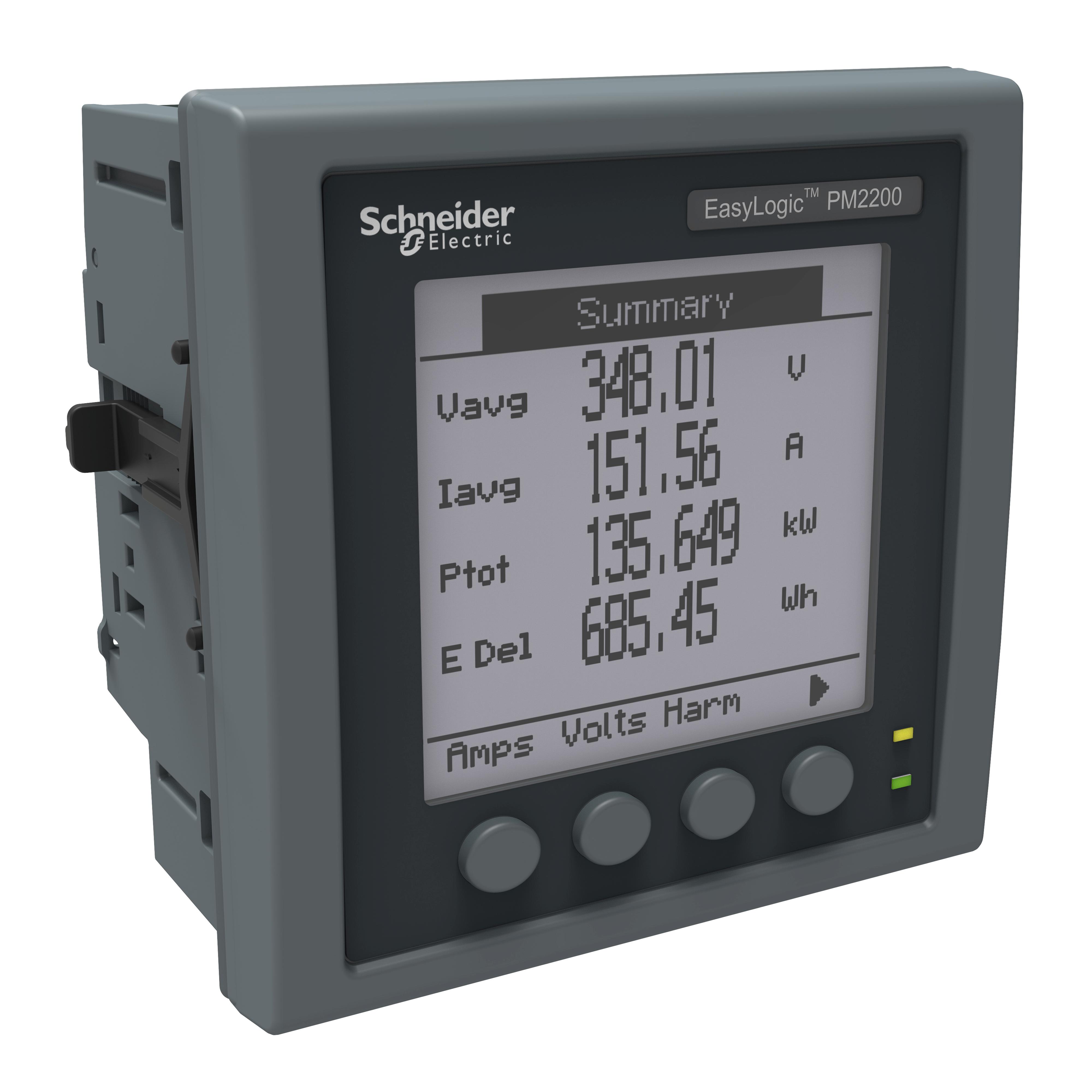 Измеритель мощности (счётчик) с сертификатом поверки LCD RS485 CL1, PM2120, EasyLogic Schneider Electric, METSEPM2220R