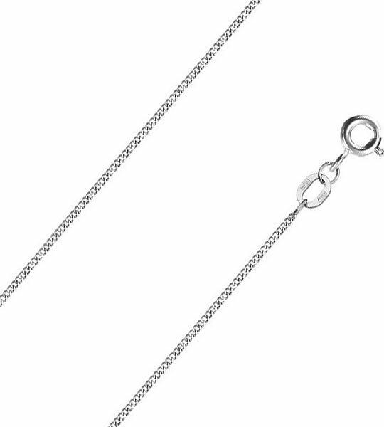 Цепочка из белого золота Красцветмет NC-18-002-3-0-25 с панцирным плетением, размер 45 мм