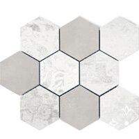 Мозаика Polcolorit Modern Gr Bi Mosaic Hex Mix 300x300 мм (Керамическая плитка для ванной)
