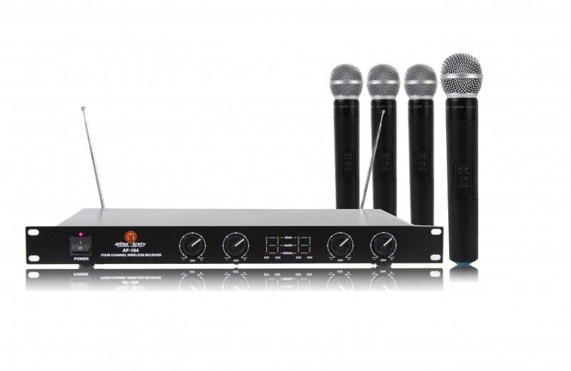 Arthur Forty AF-104 (VHF) Вокальная радиосистема с 4 ручными микрофонами