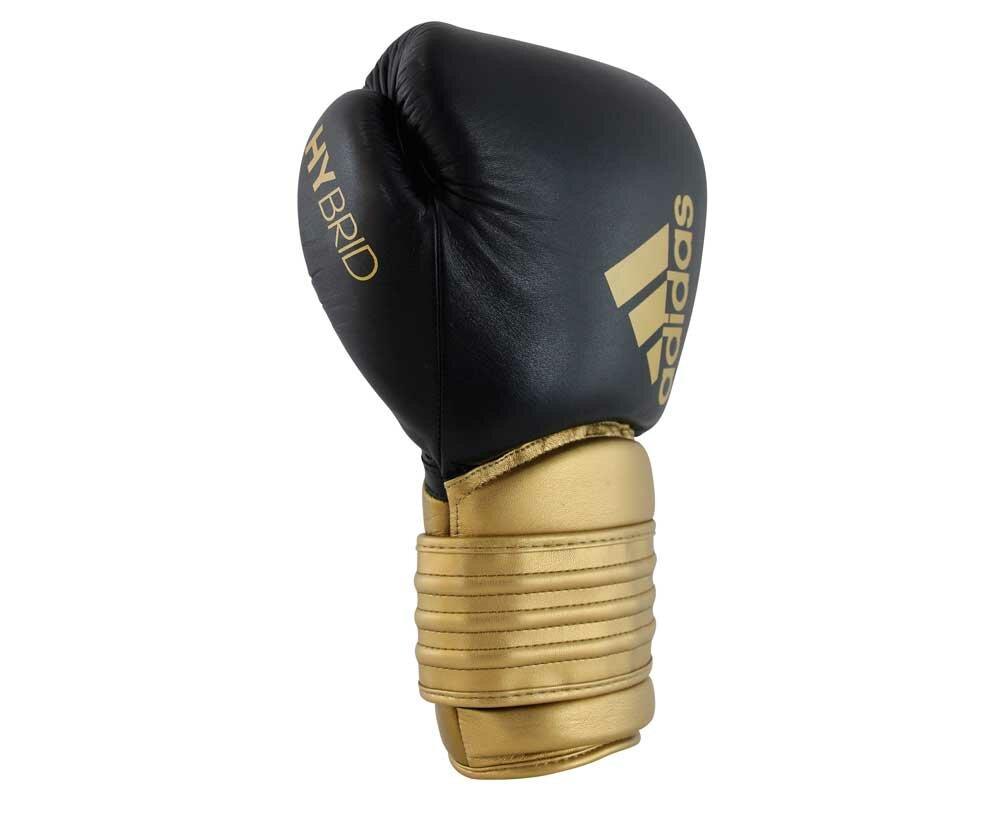 Перчатки боксерские Hybrid 300 черно-золотые (вес 14 унций)