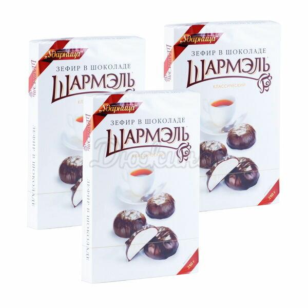 Зефир в шоколаде Шармэль классический 250 г 3 шт