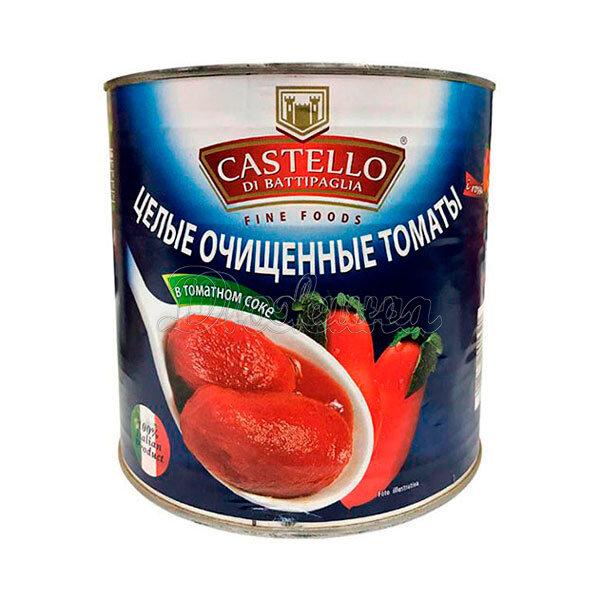Томаты Castelo очищенные в собственном соку 2,5 кг x 1 шт