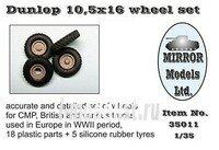 35011 Mirror-models 1/35 Dunlop 10,5 x 16 wheel set