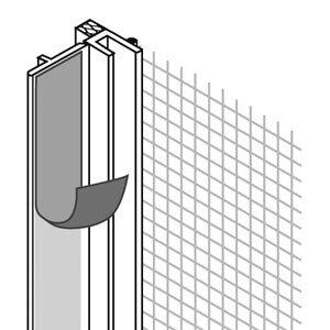 Сетка и профили Профиль ПВХ Baukom оконный примыкающий 6х2400 мм