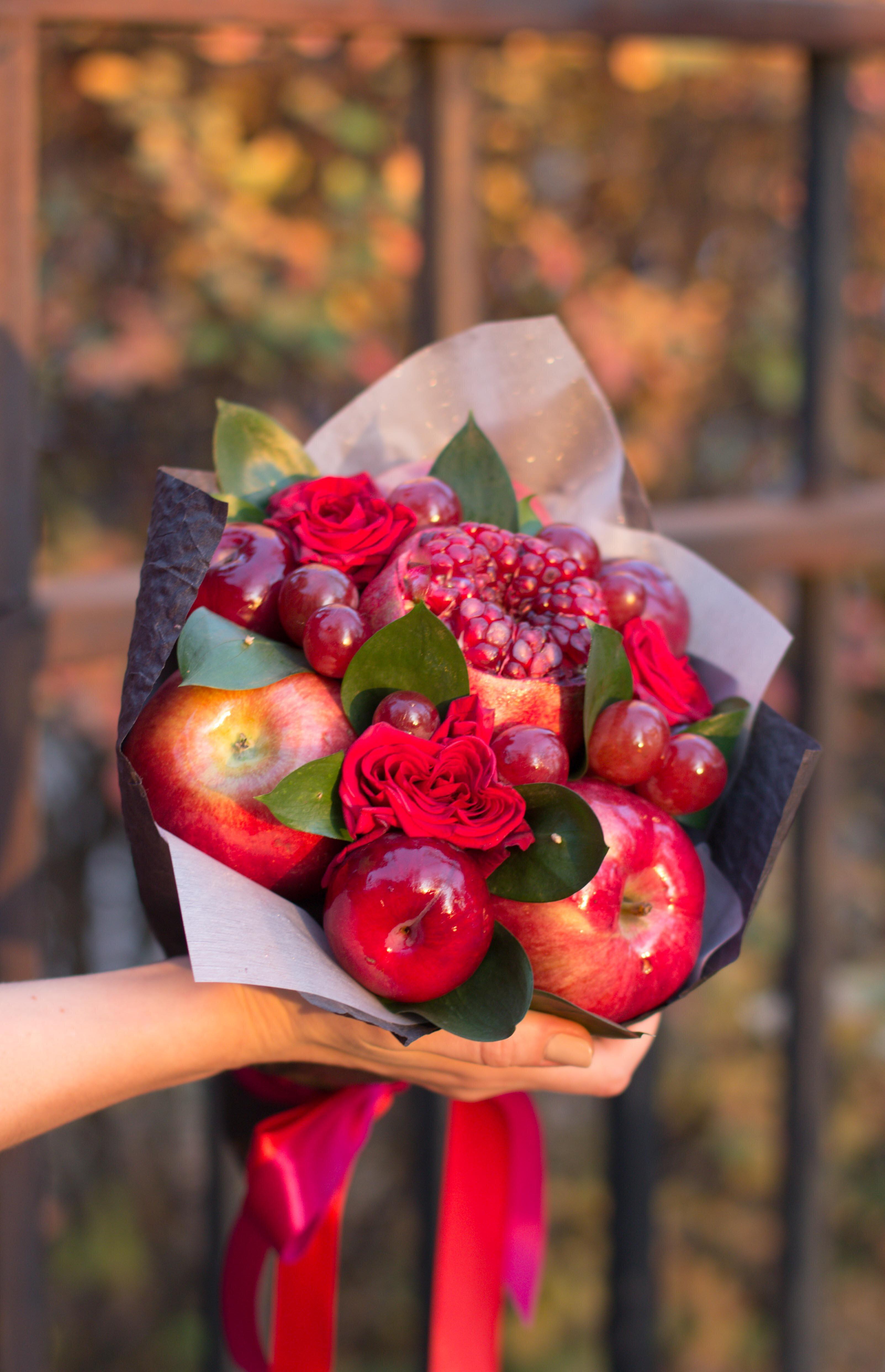 Цветов, фруктовые букеты на заказ