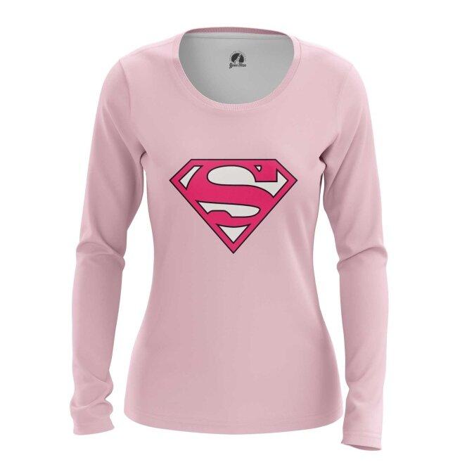 Лонгслив teestore Cупермен Superman pink logo