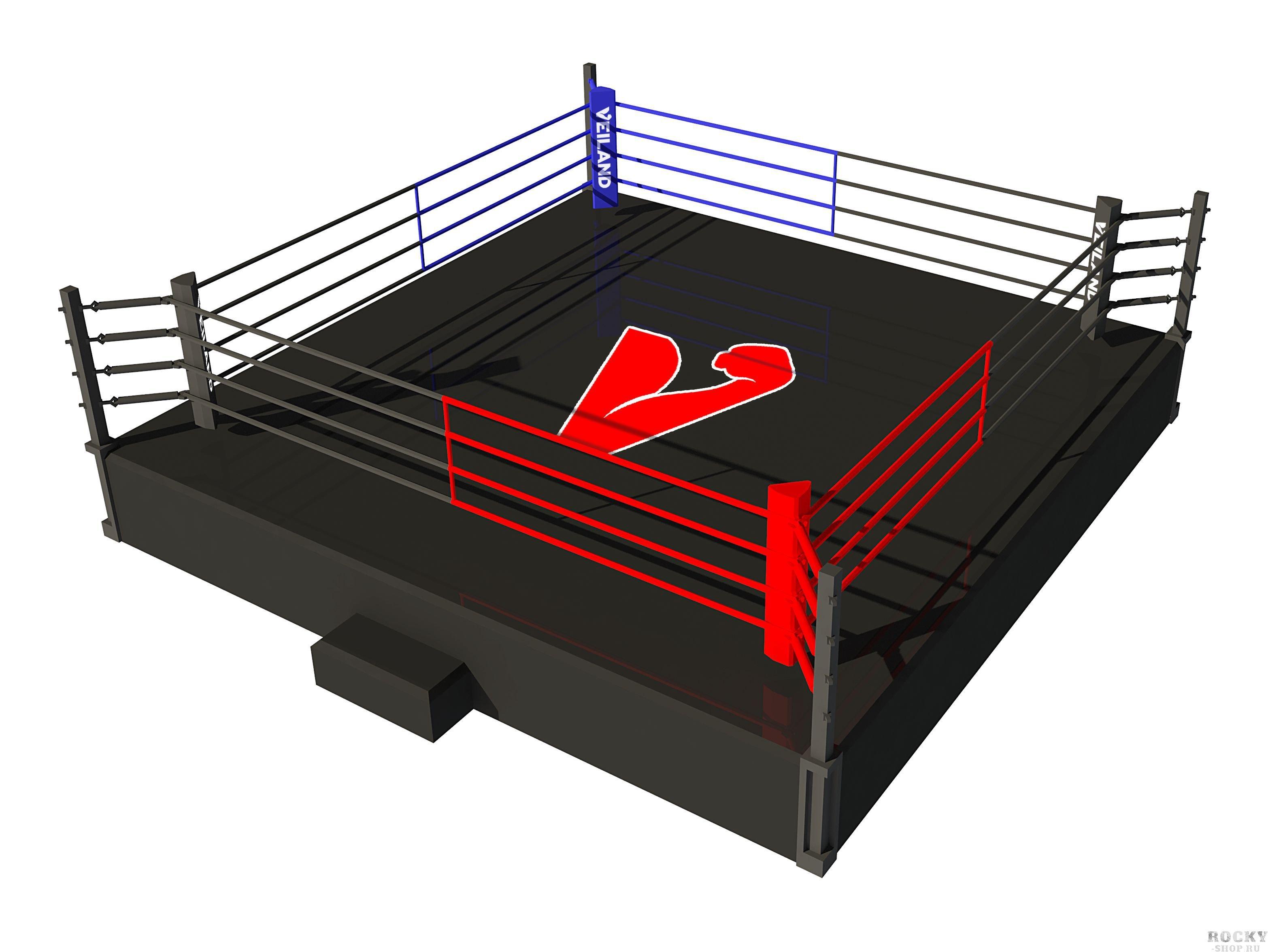 Боксерский ринг Veiland на помосте 1 метр, боевая зона 4х4 м Veiland
