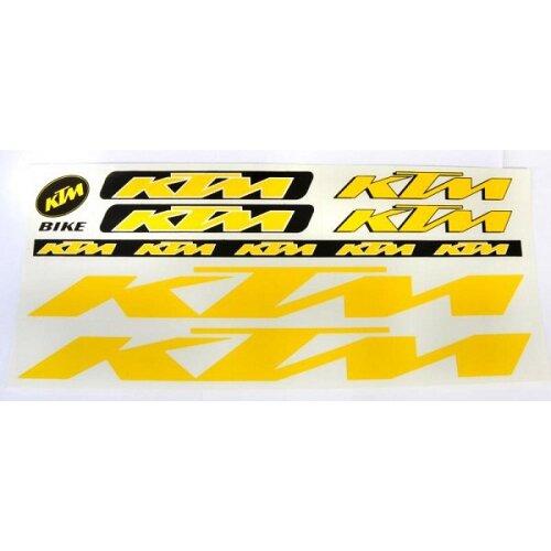 Комплект наклеек КТМ yellow
