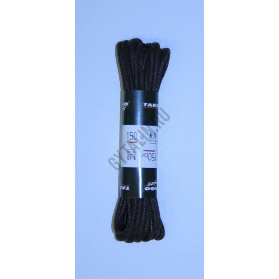 Шнурки 150 см, Круглые тонкие с пропиткой Tarrago (2 цвета), Цвет Коричневый