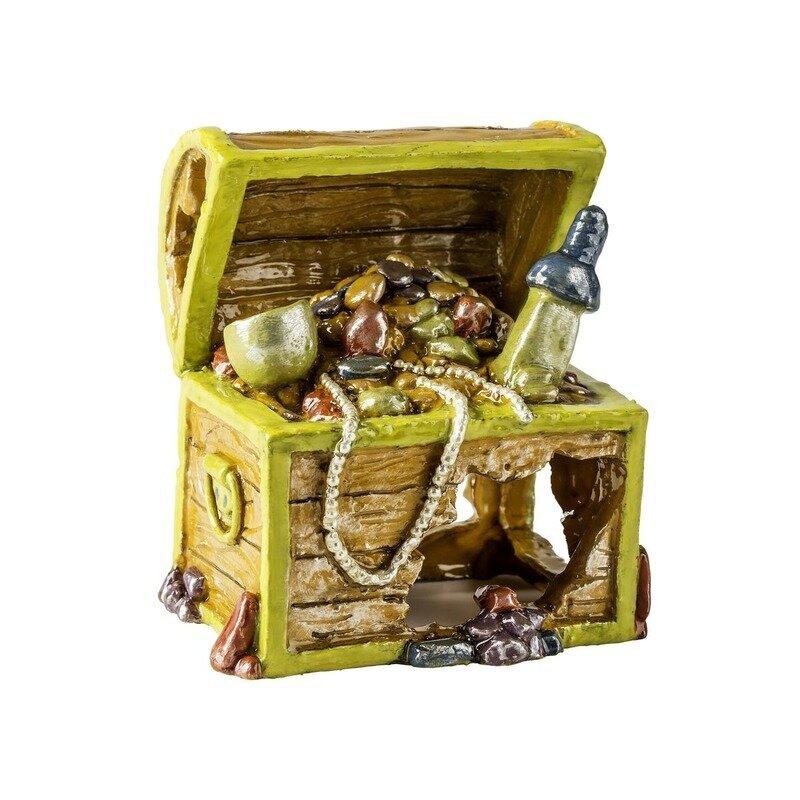 Glofish декорация для аквариума сундук с сокровищами маленький S