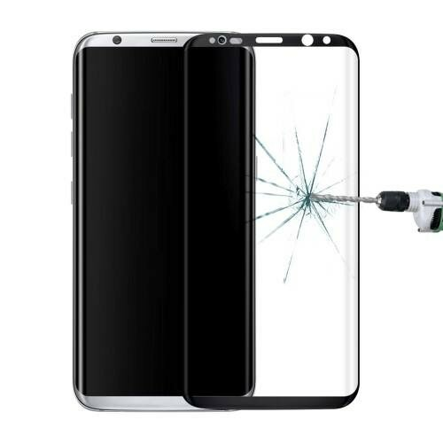 Защитное 3D стекло для Samsung Galaxy S8 / G9500 с закругленными краями 0.3мм 9H Full Screen с черной рамкой (Black)