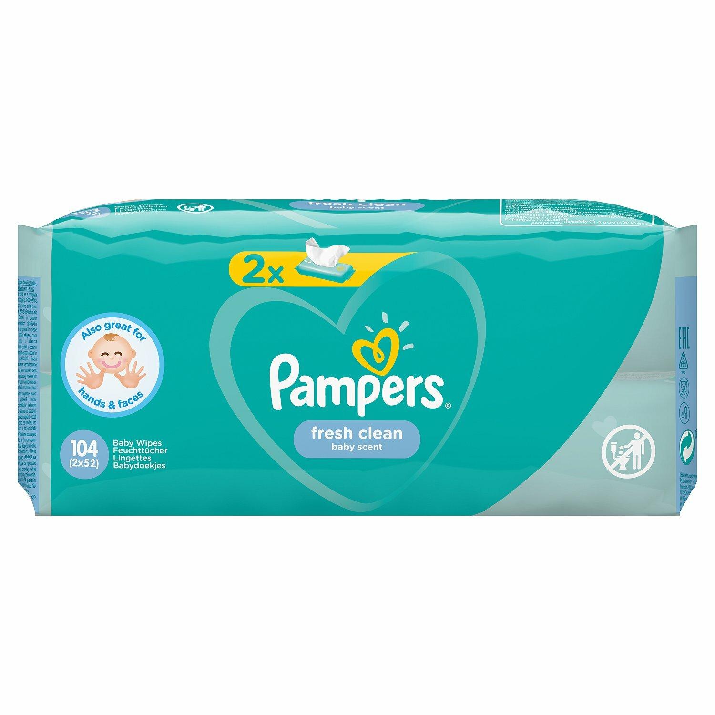 Влажные салфетки Pampers Fresh Clean детские, 104 шт