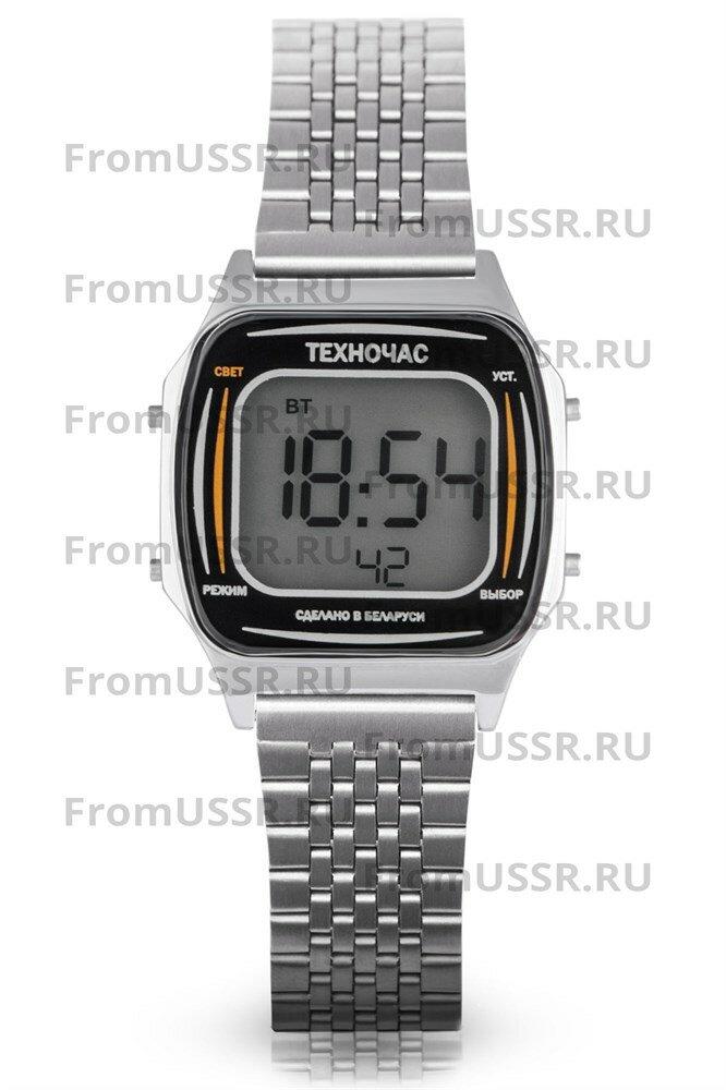 Электроника Часы Техночас 65М/1174 Стальной браслет мелкое звено