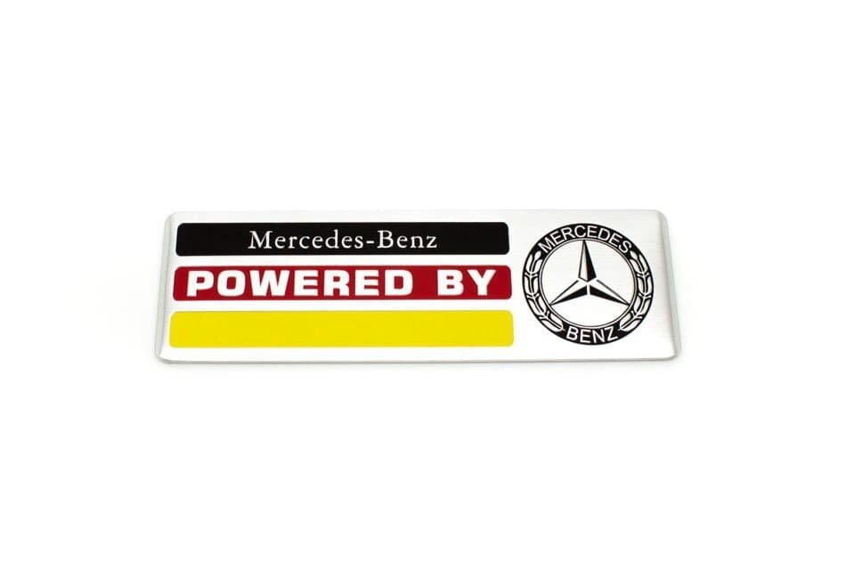 Табличка алюминиевая Power By Mercedes-Benz