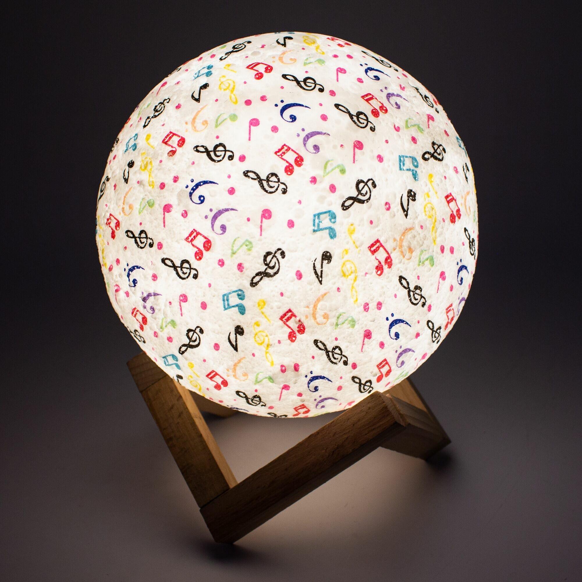 Лампа-ночник Sfero SF108 Музыкальное настроение 3 цвета Сенсорная d15 см.
