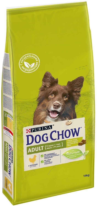 Сухой корм Dog Chow Adult для собак (14 кг, Ягненок Рис)
