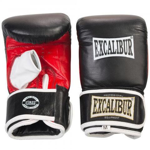 Снарядные перчатки Excalibur 604/02 Black/Red Буйволиная кожа