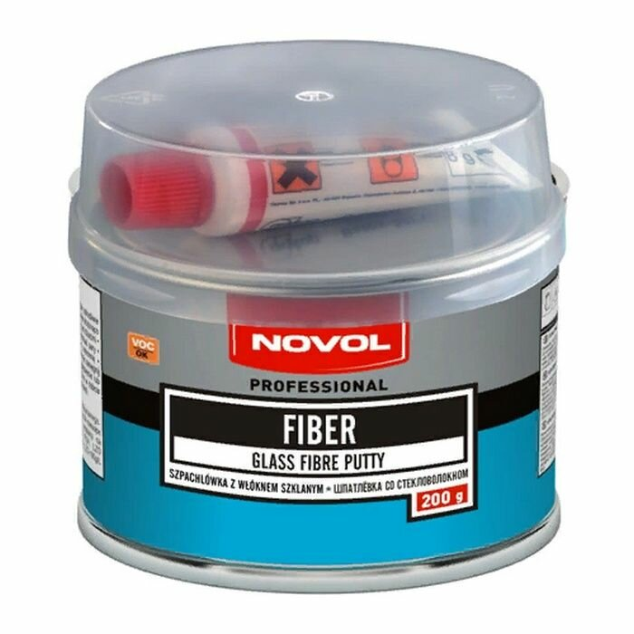 """Шпатлевка NOVOL """"FIBER"""", со стекловолокном, 0.2 кг"""