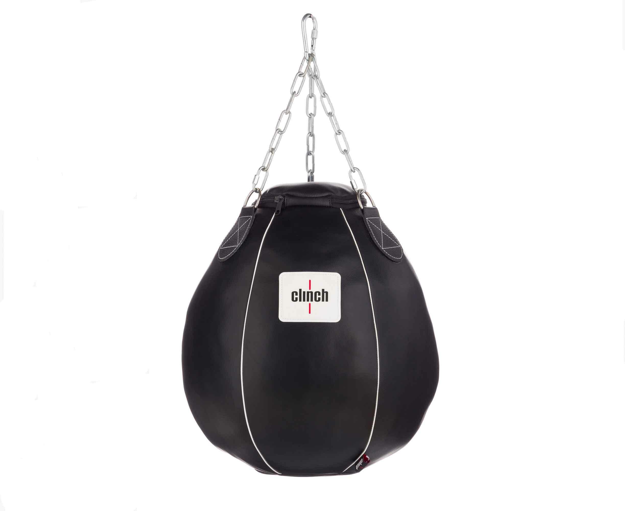 Груша боксерская Clinch Profi & Durable 60x50 см черная (размер 60х50 см)