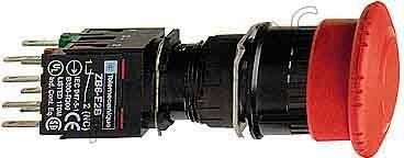 """Кнопка """"грибок"""" красная 1НО+2НЗ поворотная с фиксацией Schneider Electric, XB6AS8349B"""