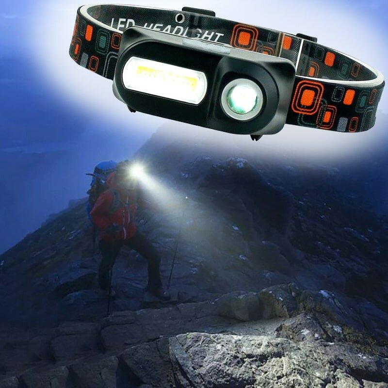 Налобный аккумуляторный фонарь High Power Headlamp Double light sourge headlight KX-1804