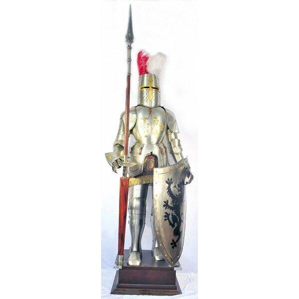 Доспехи рыцаря в полный рост, 2 метра с щитом и копьем