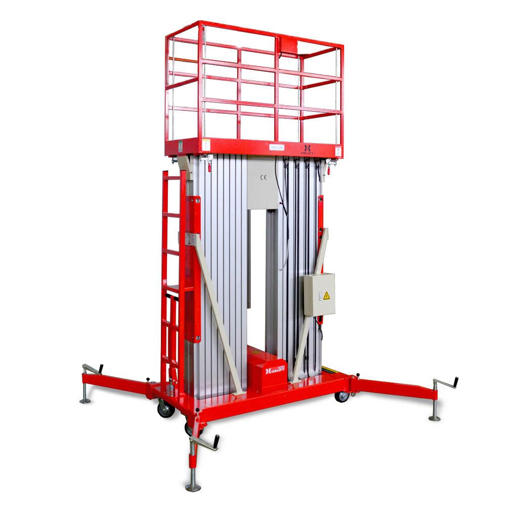 Телескопический Двухмачтовый Подъемник ZX-2-140 OXLIFT 14 м 150 кг AC+DC