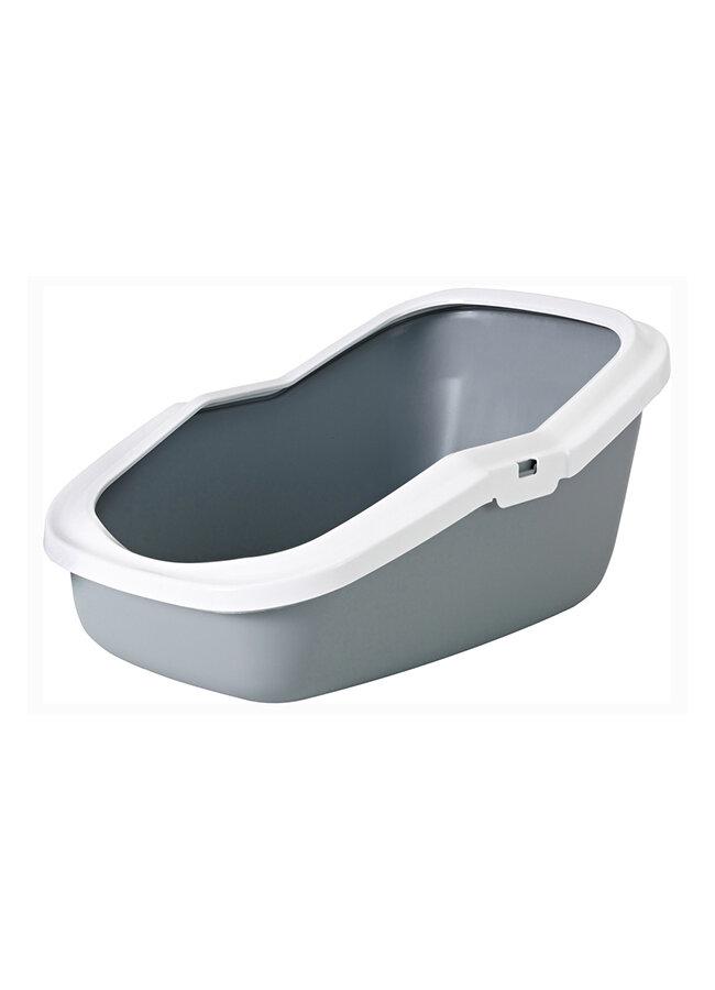 Savic Aseo Туалет для кошек с высокими бортами цвет серый