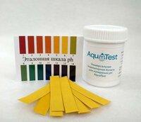 Индикаторные pH полоски 1-14 (лакмусовая бумага) AquaTest 100шт