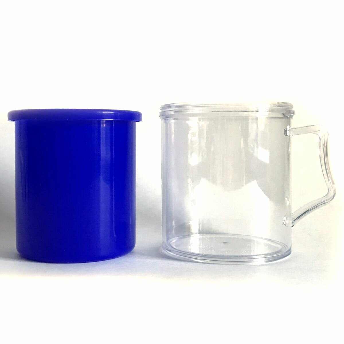 Заготовки пластиковых кружек под полиграфическую вставку АК2 (Синий, 40 шт.)