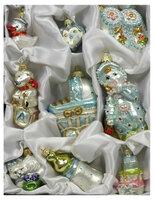 Набор елочных украшений ручной работы Irena «Для мальчика» стекло, 9 шт