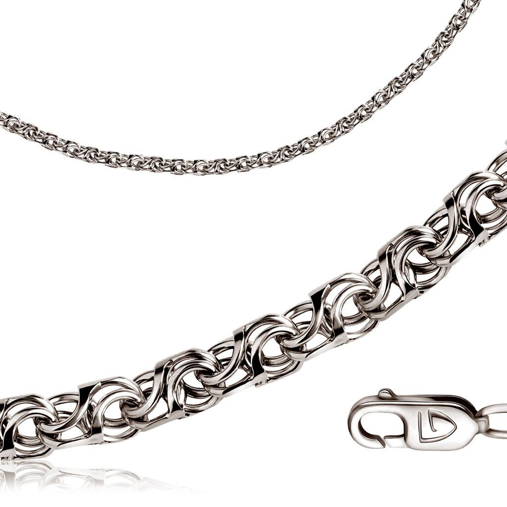 Бронницкий ювелир Цепь ручной работы из серебра 72085G750