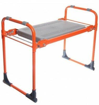 Скамейка-перевертыш садовая складная СК Ника оранжевая -