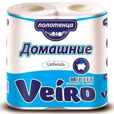Бумажные полотенца Veiro Домашние эконом белые 2 слоя (2шт)