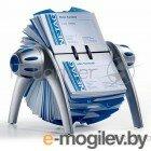 Визитница Durable картотека настольная Visifix Flip на 400 визиток серебристая