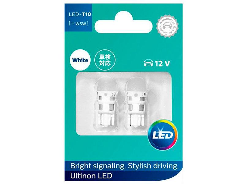 Лампа Philips Ultinon LED W5W 6000K 11961ULWX2 (2 штуки)