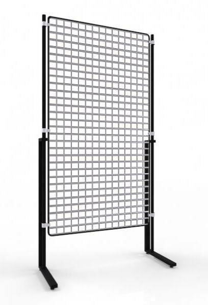 Торговая стойка с хромированной сеткой ТС-1580