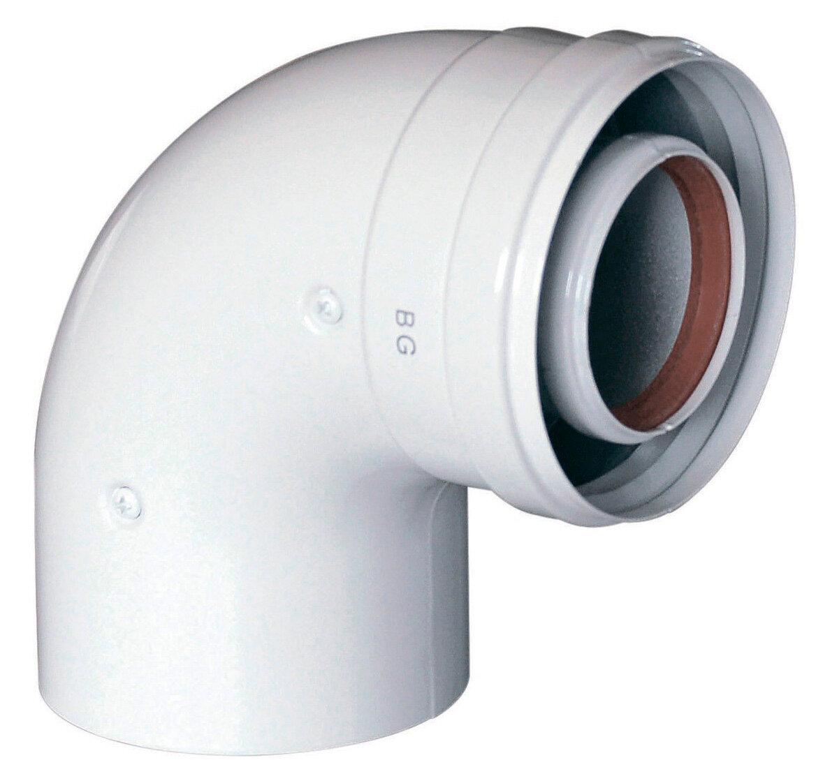 Коаксиальный отвод Baxi 90 , диам. 60/100 мм, без муфты(арт. KHG71410151)