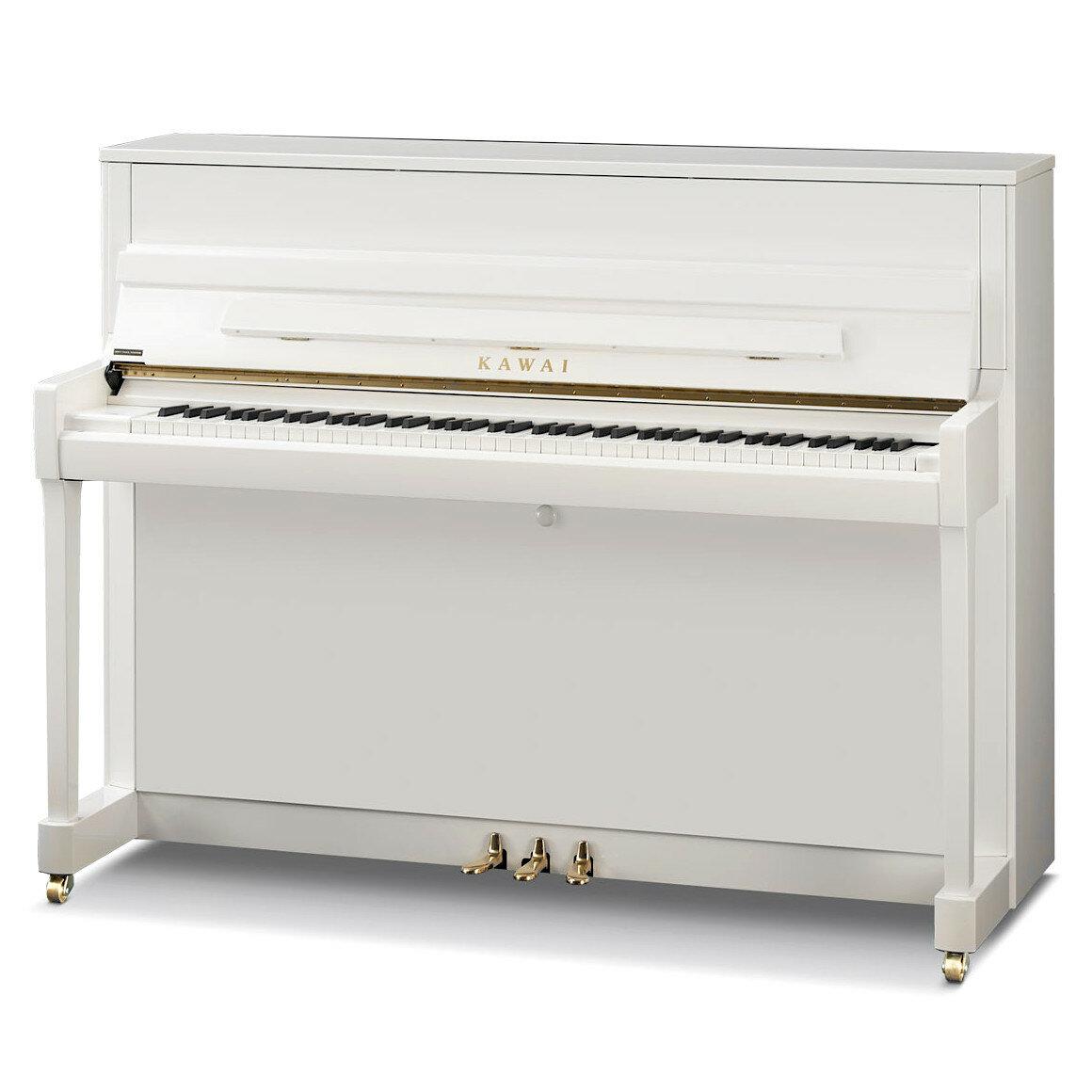 KAWAI K-200 WH/P, цвет белый полированный (Акустические пианино)